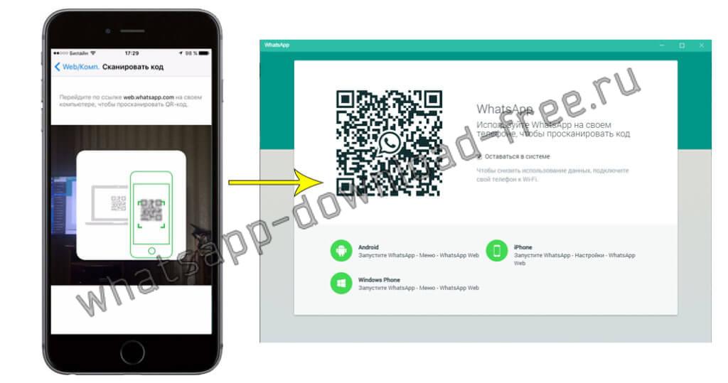 сканирование qr кода whatsapp