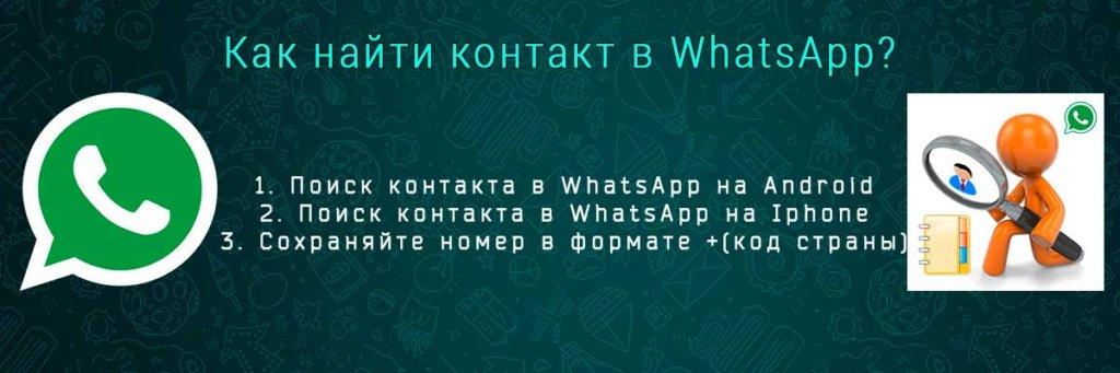 поиск контакта в whatsapp