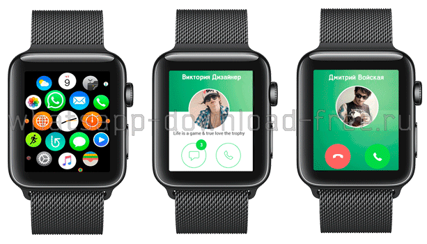 Звонок в WhatsApp Apple Watch