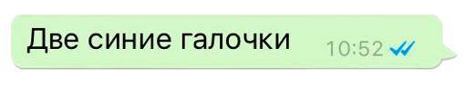 Две синие галочки в WhatsApp