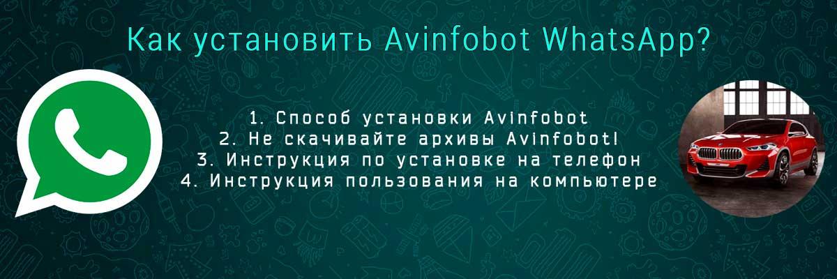 WhatsApp Avinfobot как установить