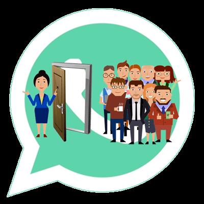Добавить человека в группу WhatsApp logo
