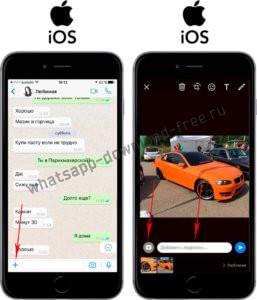 Как отправить несколько фотографий в whatsapp на iphone