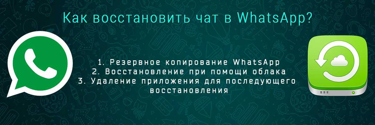 Как восстановить WhatsApp