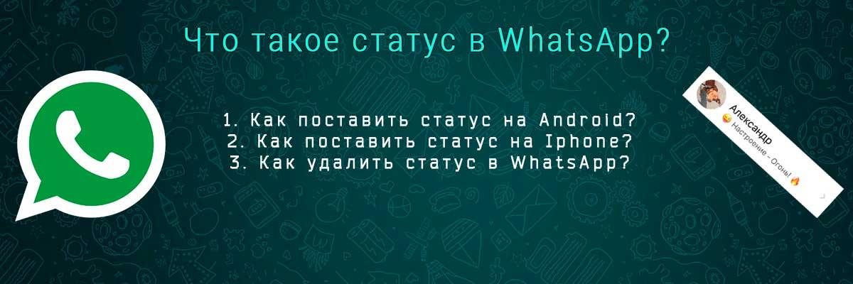 Что такое статус в WhatsApp