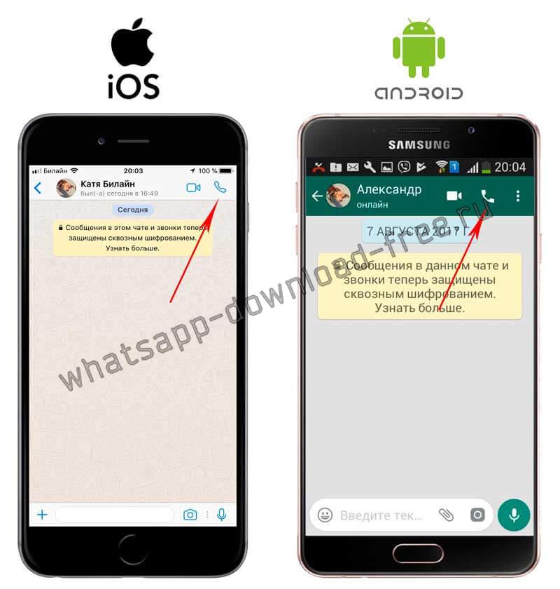 Как позвонить в WhatsApp