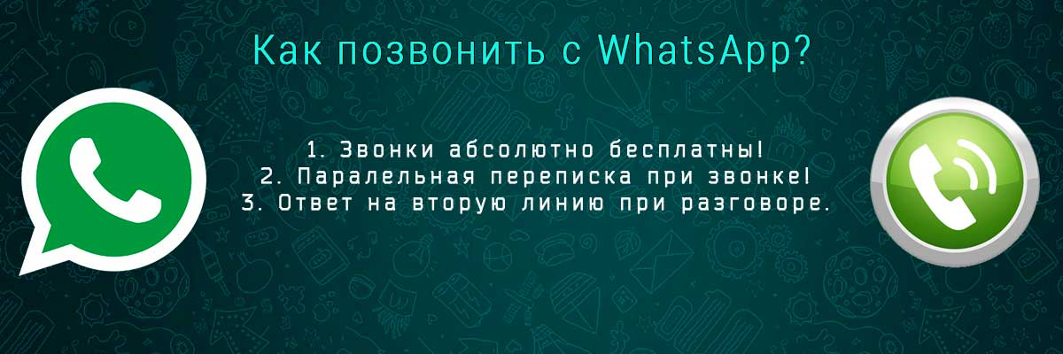Как позвонить с WhatsApp