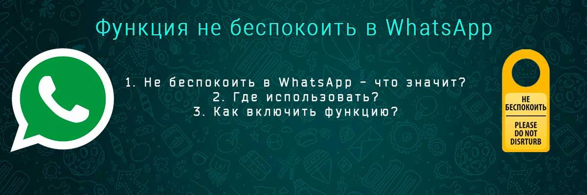 Функция не беспокоить в WhatsApp