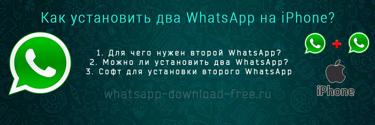 Два WhatsApp на Iphone