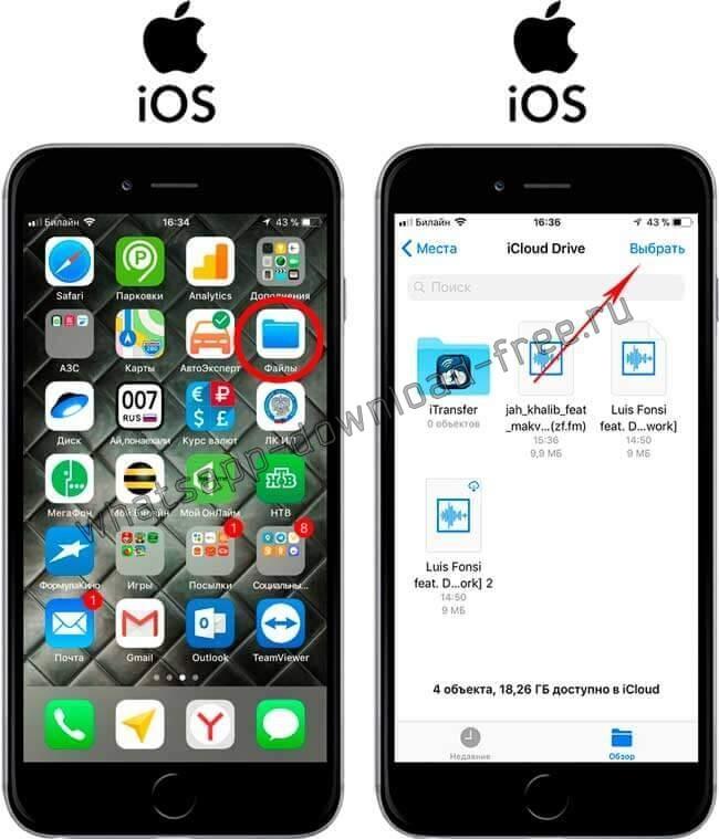 Стандартная утилита Файлы в Iphone