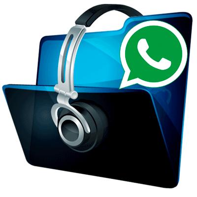 Иконка отправки музыки в WhatsApp