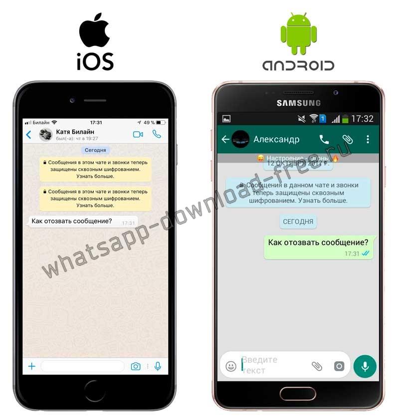 WhatsApp Plus до отзыва сообщения