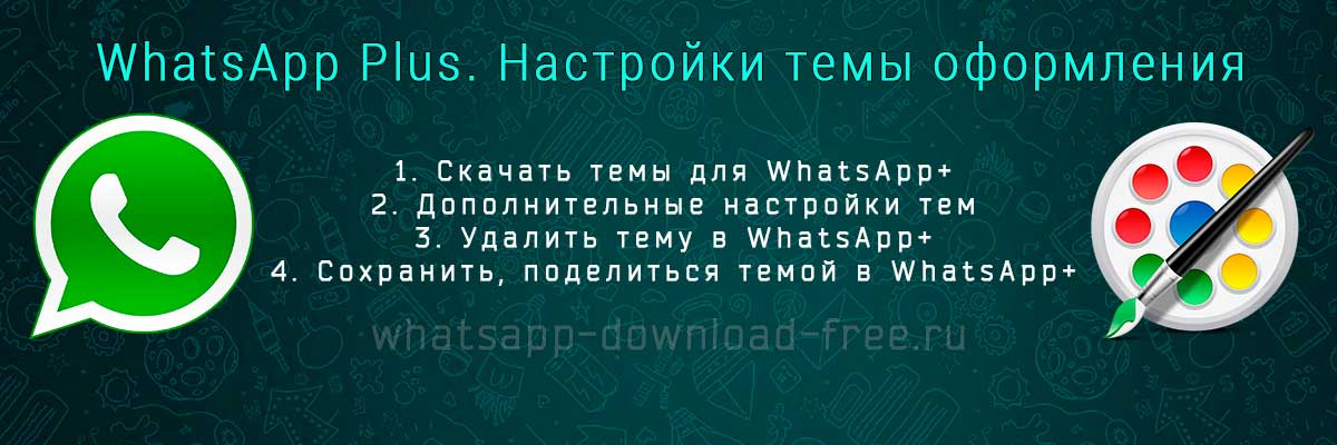 Настройка тем в WhatsApp+