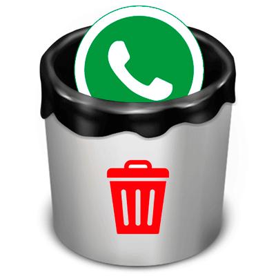 Удалить WhatsApp иконка