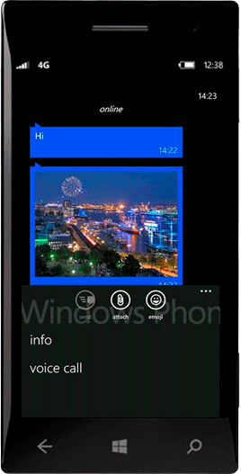 Сообщения в WhatsApp на Windows Phone