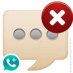 Отменить отправленное сообщение в WhatsApp Plus.