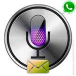 Отправить длинное голосовое сообщение в WhatsApp.