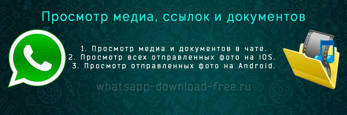 медиафайлы в whatsapp