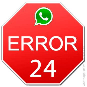 иконка error 24 whatsapp